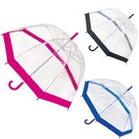 Drizzles Ladies Dome Umbrella - Purple, Silver, Pink, Black
